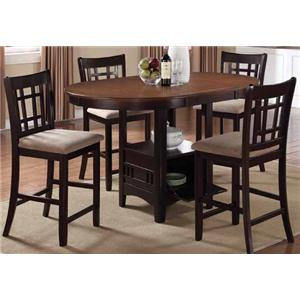Coaster Lavon 5 Piece Counter Height Table Set