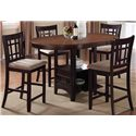 Coaster Lavon 5 Piece Counter Height Table Set - Item Number: 105278+4x79