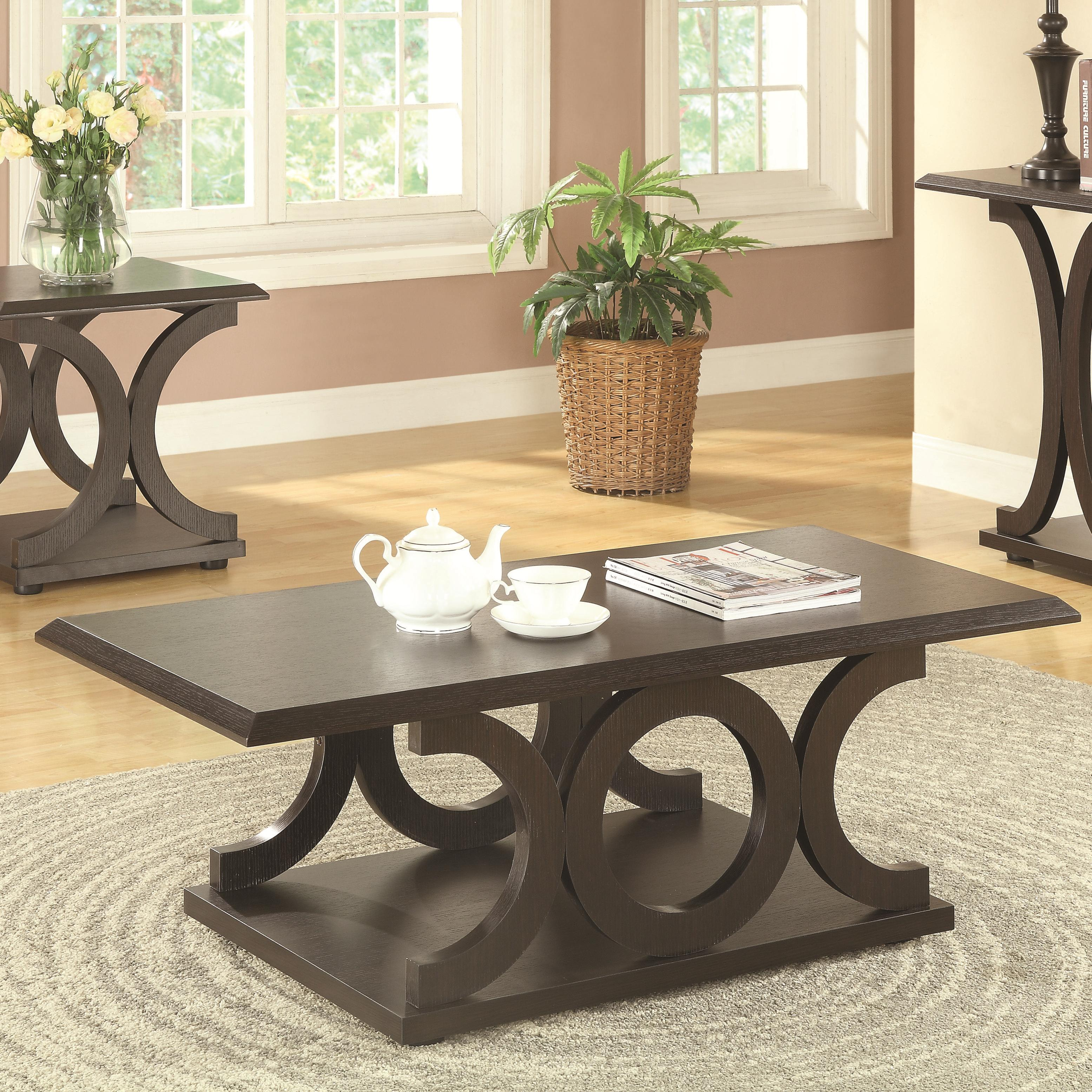 Coaster 703140 Coffee Table - Item Number 703148 & Coaster 703140 C-Shaped Coffee Table | Value City Furniture ...