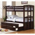 Coaster Logan Twin over Twin Bunk Bed with Trundle - Item Number: 460071+460074