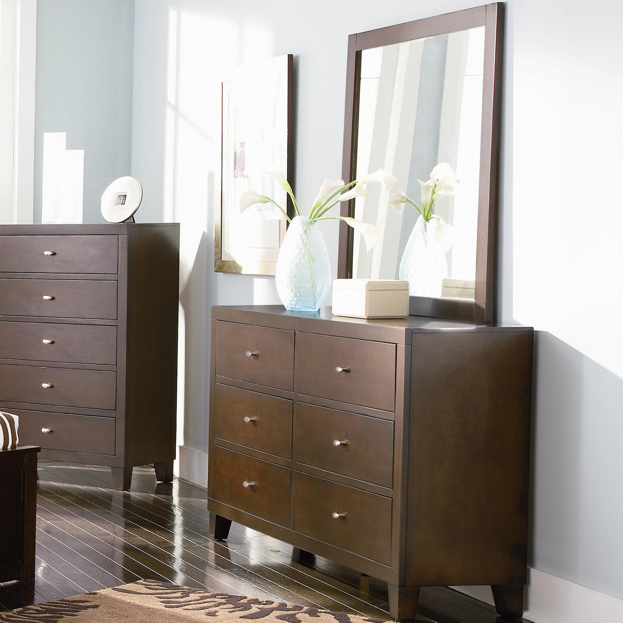 Coaster Lorretta Dresser and Mirror - Item Number: 201513+4