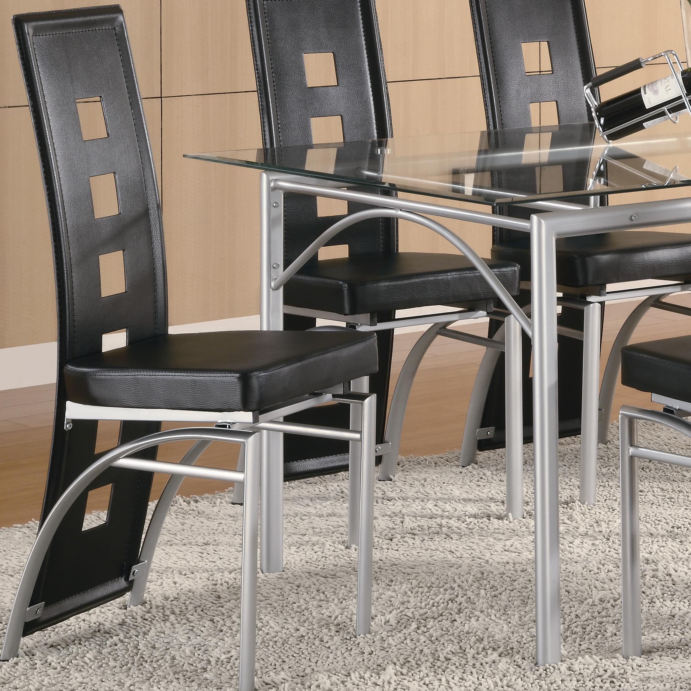 Los Feliz Black Metal Dining Chair by Coaster at Value City Furniture