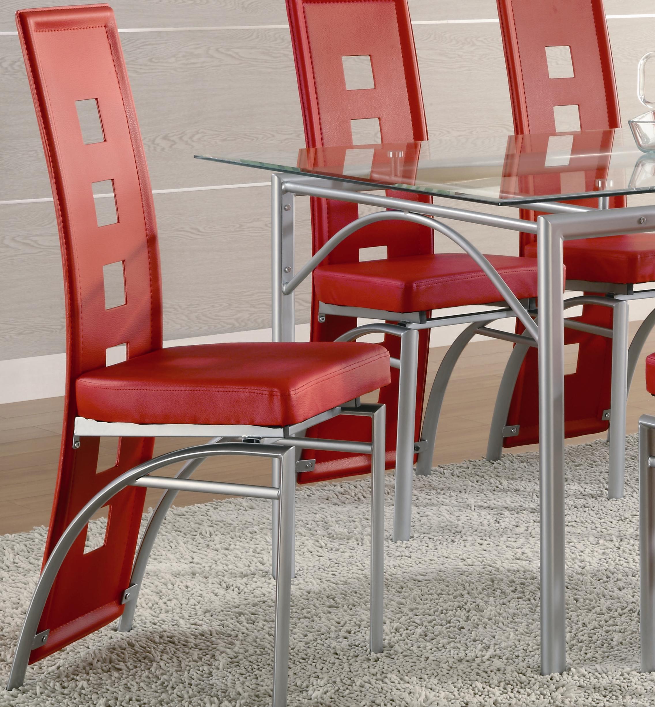 Coaster Los Feliz Dining Chair (Red) - Item Number: 101683