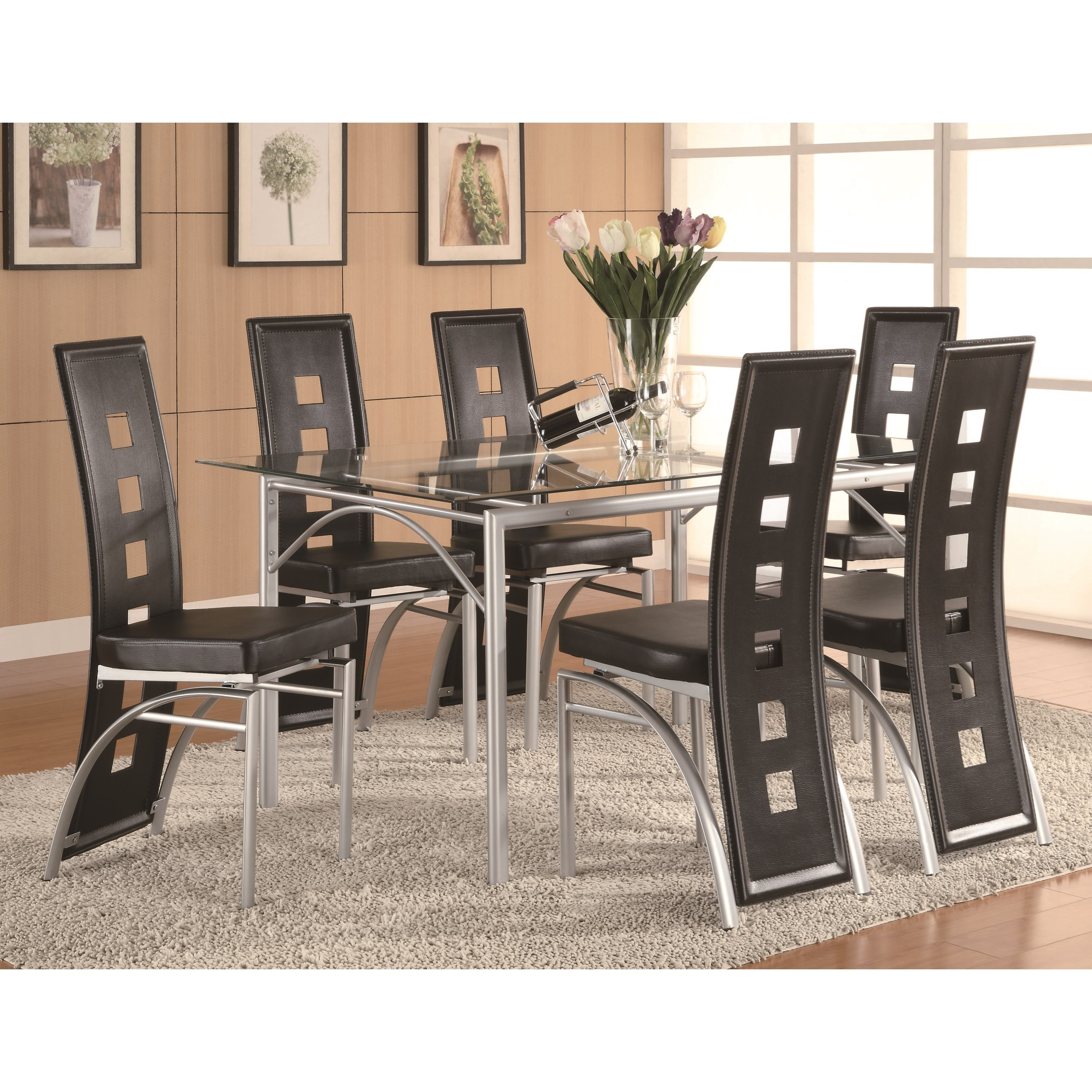 Coaster Los Feliz Counter Height Dining Set - Item Number: 101688+6x101689