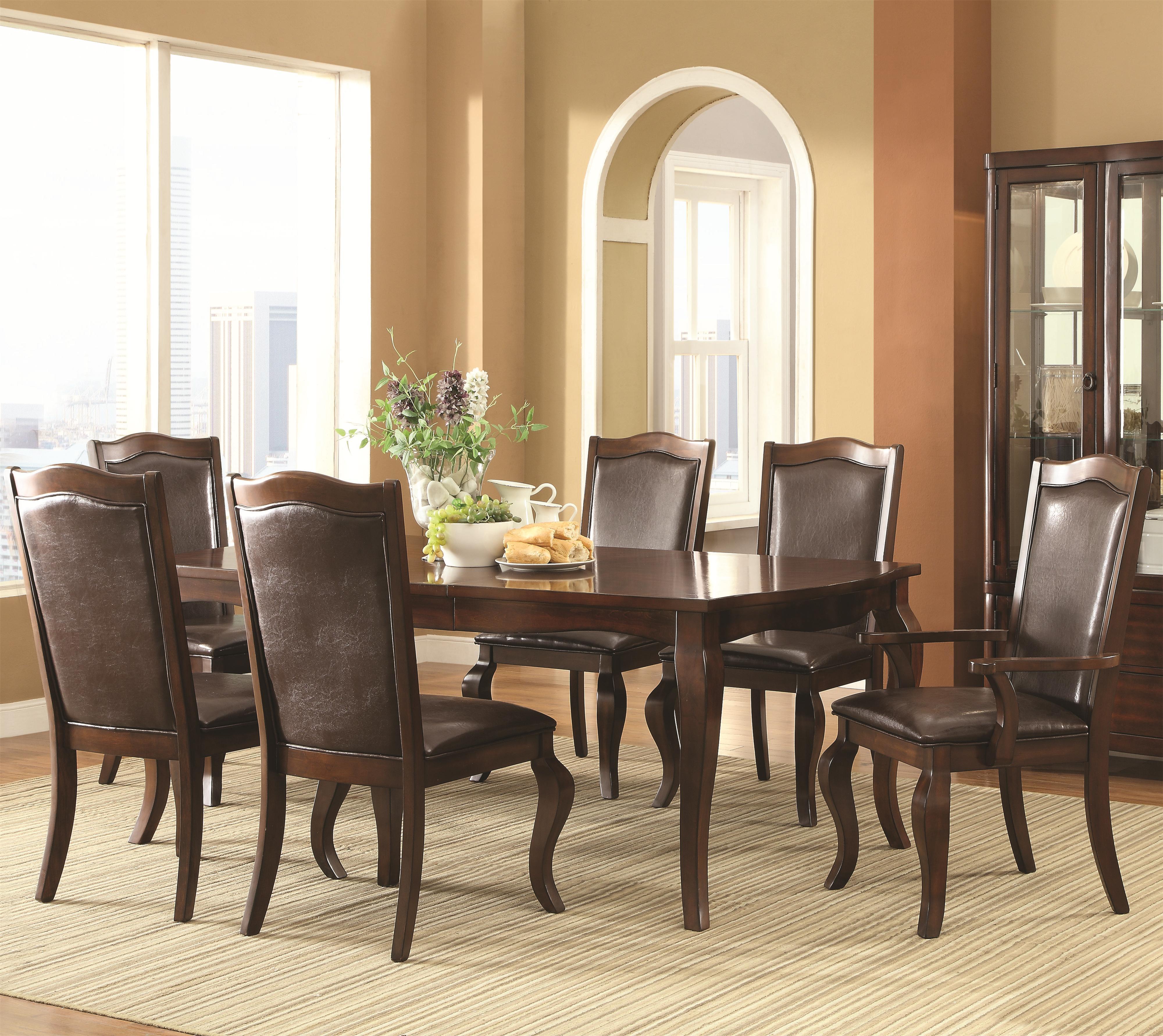 Coaster Louanna 7 Piece Dining Set - Item Number: 104841+2x43+4x42