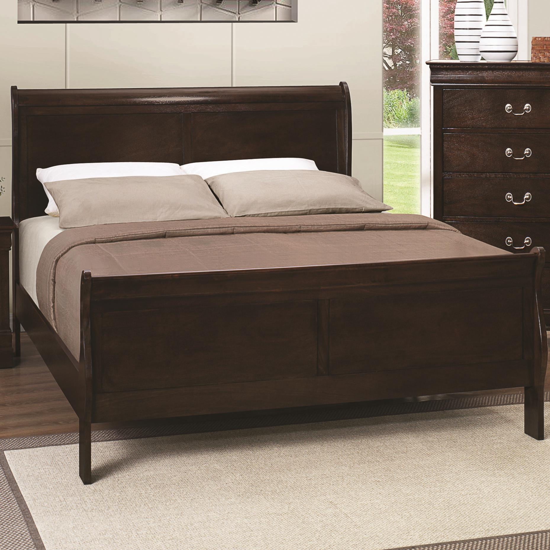 Coaster Louis Philippe 202 Queen Sleigh Bed - Item Number: 202411Q