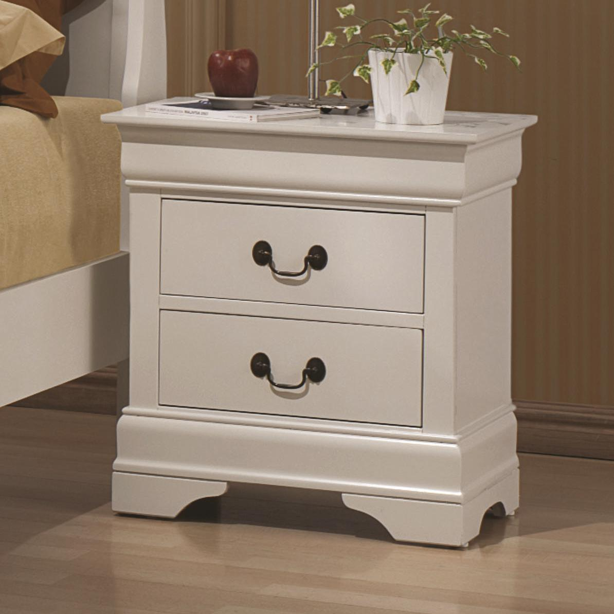Coaster Louis Philippe 204 2 Drawer Night Stand Value