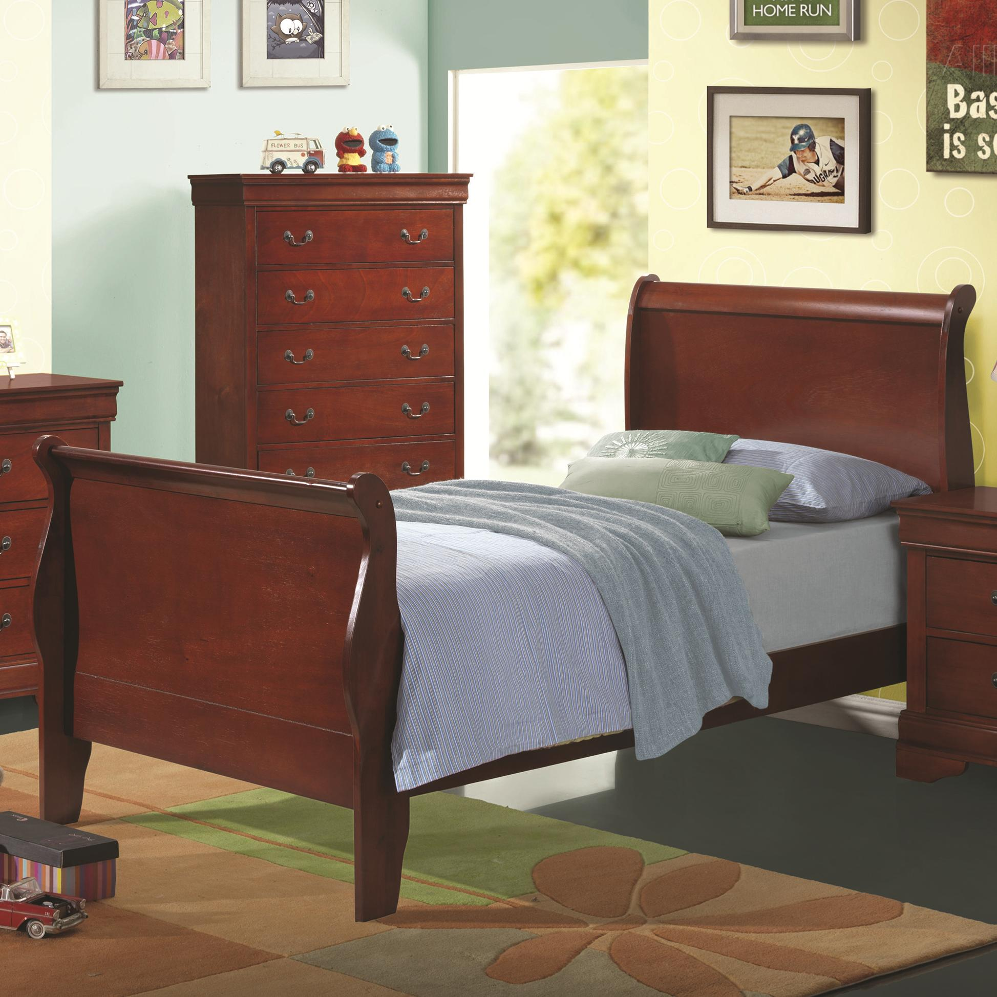 Coaster Louis Philippe Twin Sleigh Bed - Item Number: 200431T