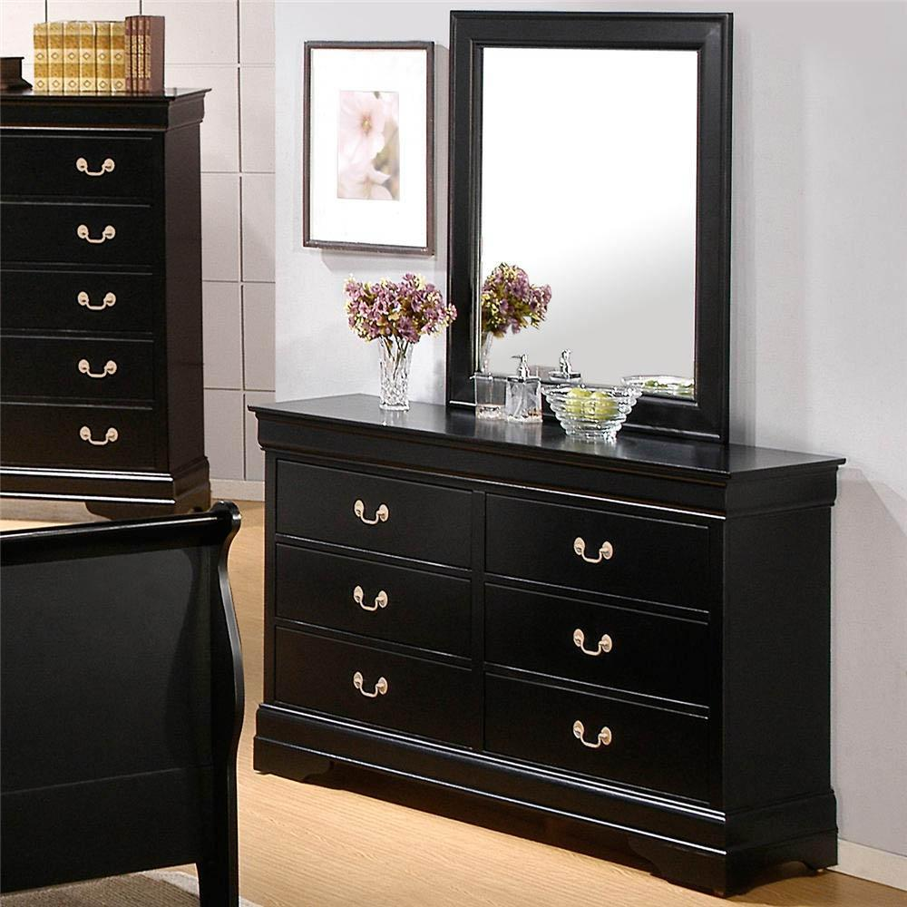 Coaster Louis Philippe Dresser and Mirror - Item Number: 201073R+201074