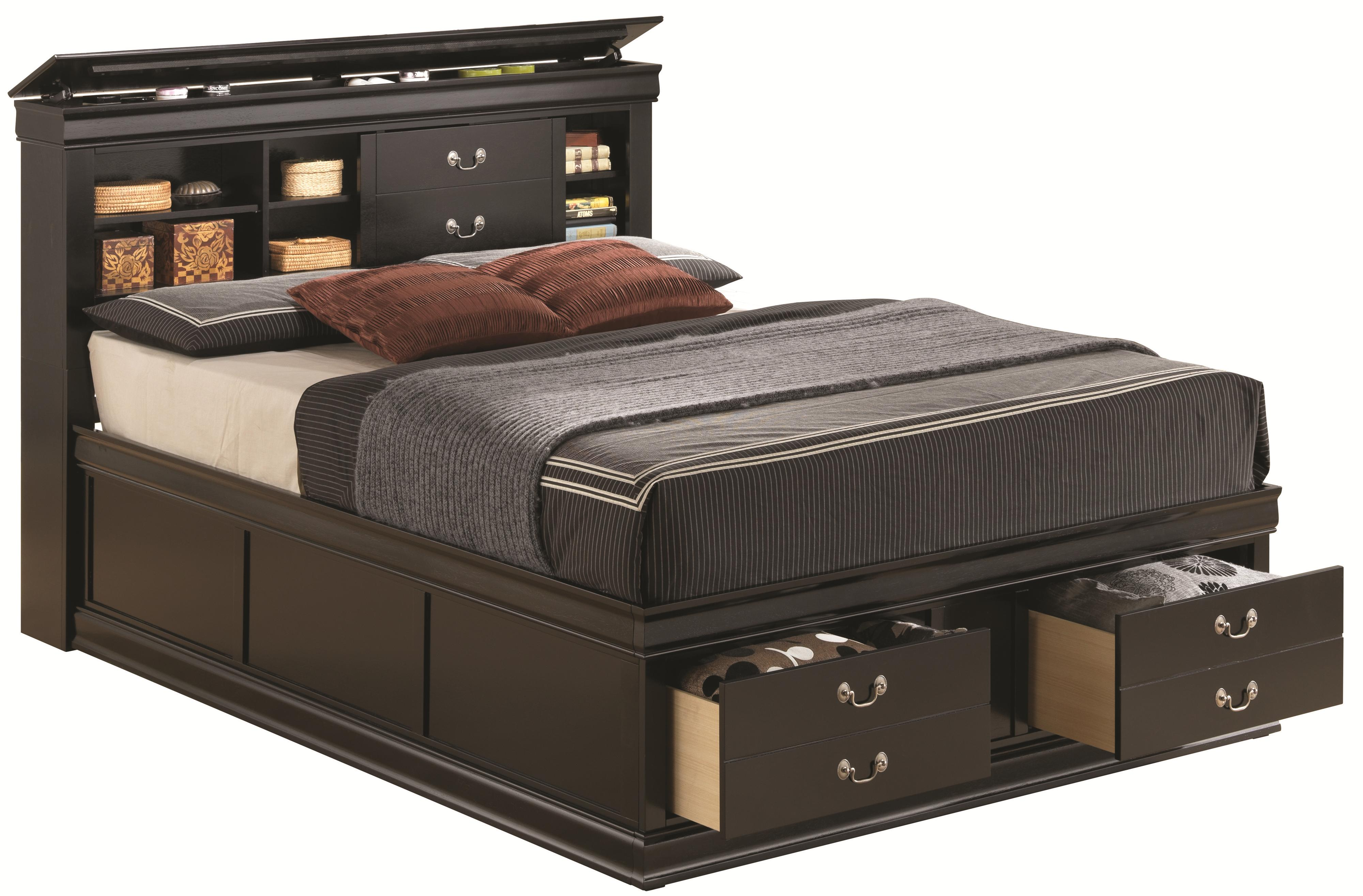 Coaster Louis Philippe Queen Storage Bed - Item Number: 201079Q