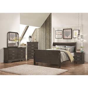 Coaster Hershel Louis Philippe Queen Bedroom Group