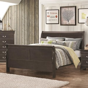Coaster Hershel Louis Philippe Queen Sleigh Bed