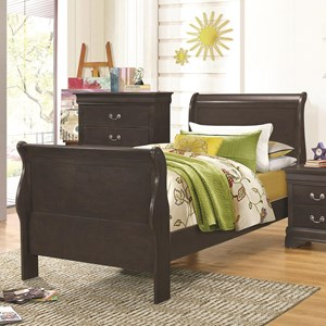 Coaster Hershel Louis Philippe Twin Sleigh Bed