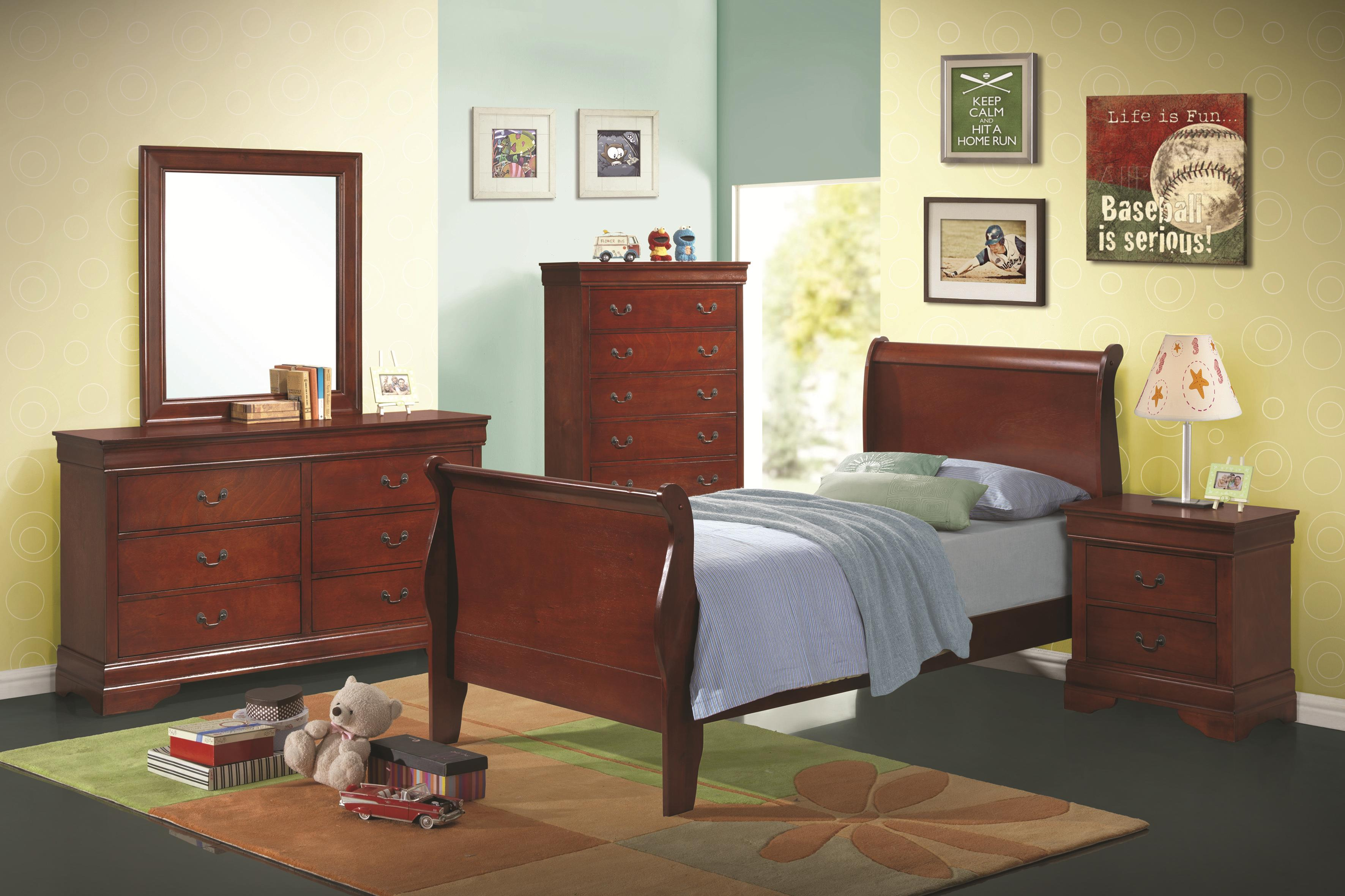 Coaster Louis Philippe Twin Bedroom Group - Item Number: 203960C T Bedroom Group 3