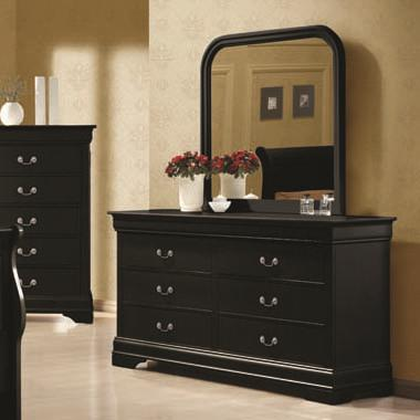 Coaster Louis Philippe Dresser and Mirror Combination - Item Number: 203963+203964