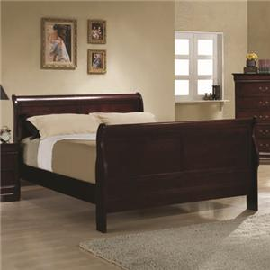 Coaster Louis Philippe Queen Sleigh Bed