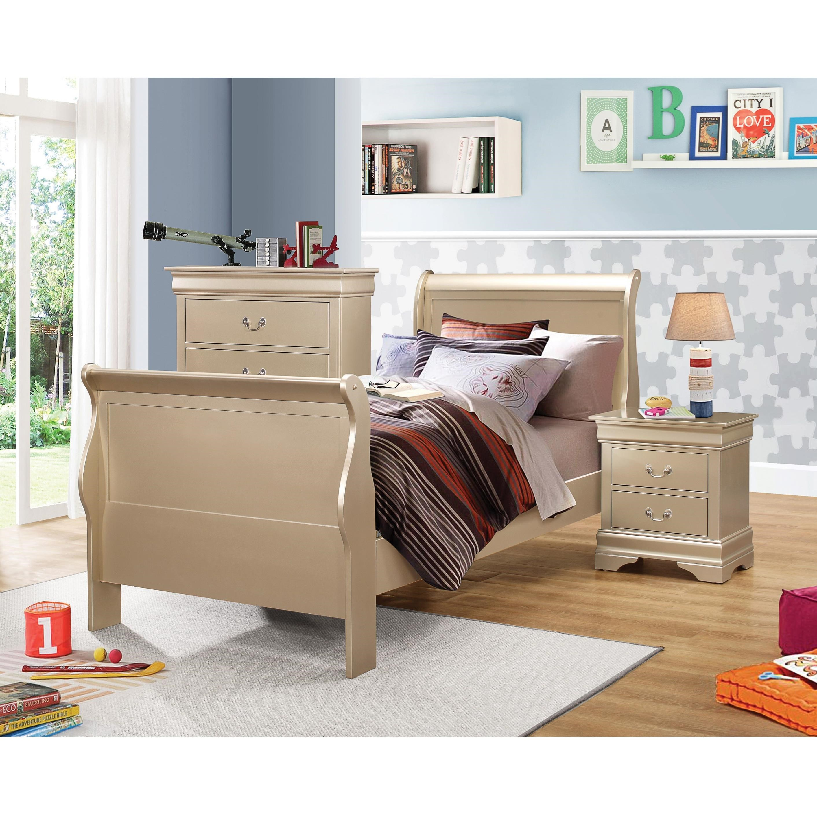 Coaster Louis Philippe Twin Bedroom Group   Item Number: 204420 T Bedroom  Group 1