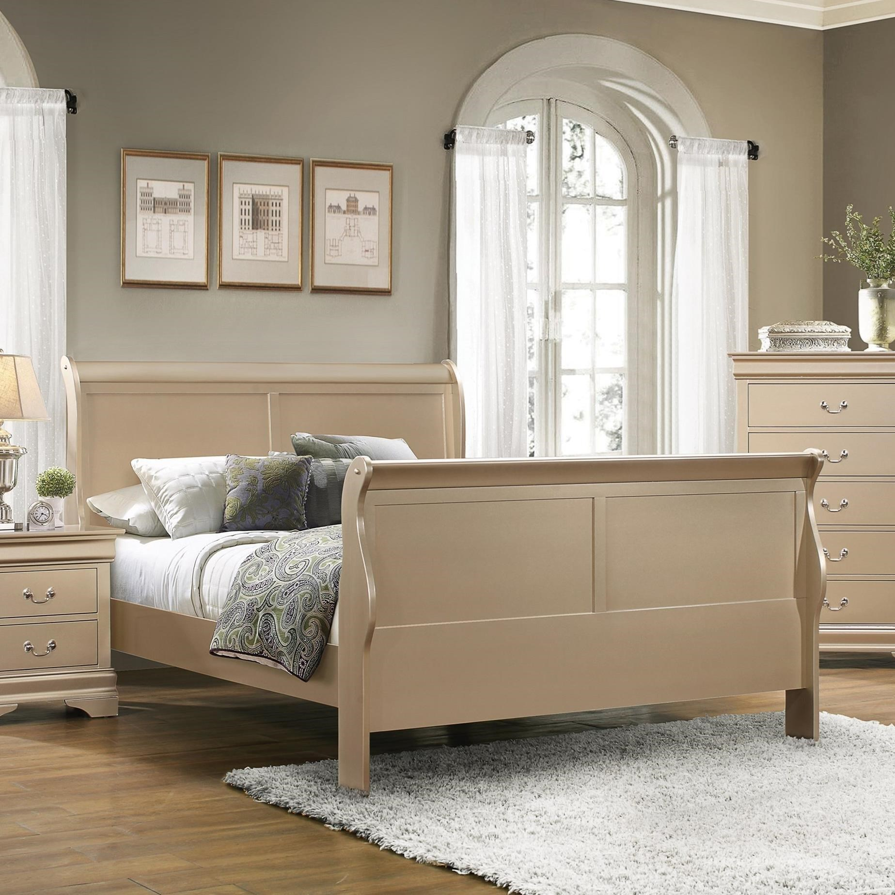 Coaster Louis Philippe Full Sleigh Bed - Item Number: 204421F