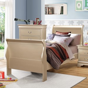 Coaster Louis Philippe Twin Sleigh Bed