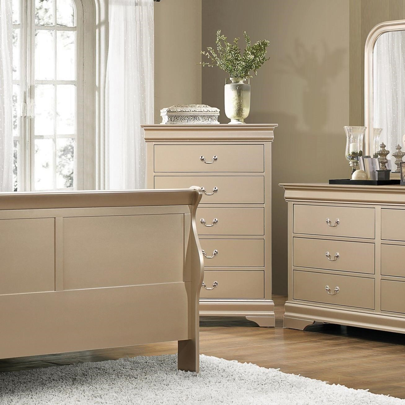 Coaster Louis Philippe Drawer Chest - Item Number: 204425