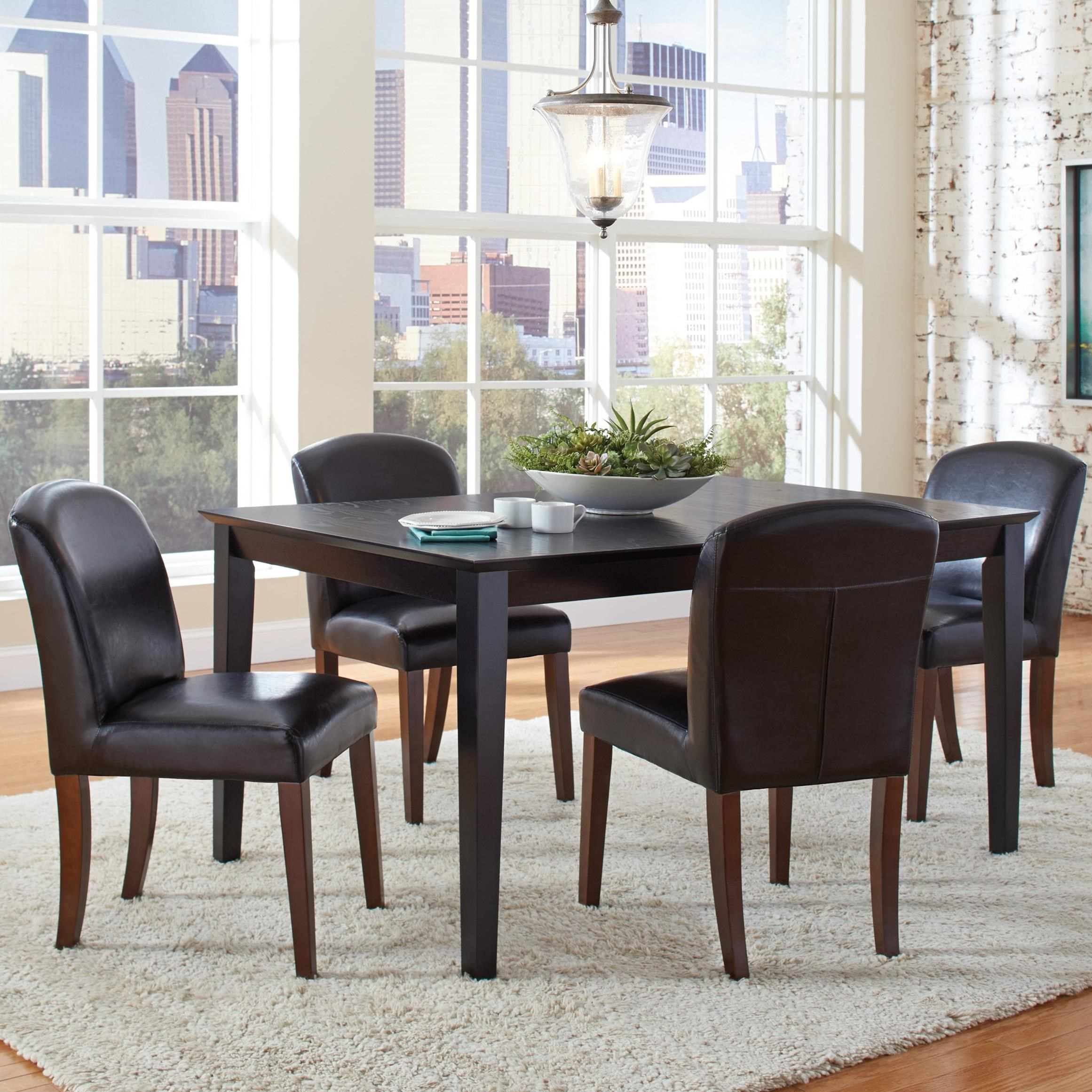 Coaster Louise Transitional Table And Four Chair Set