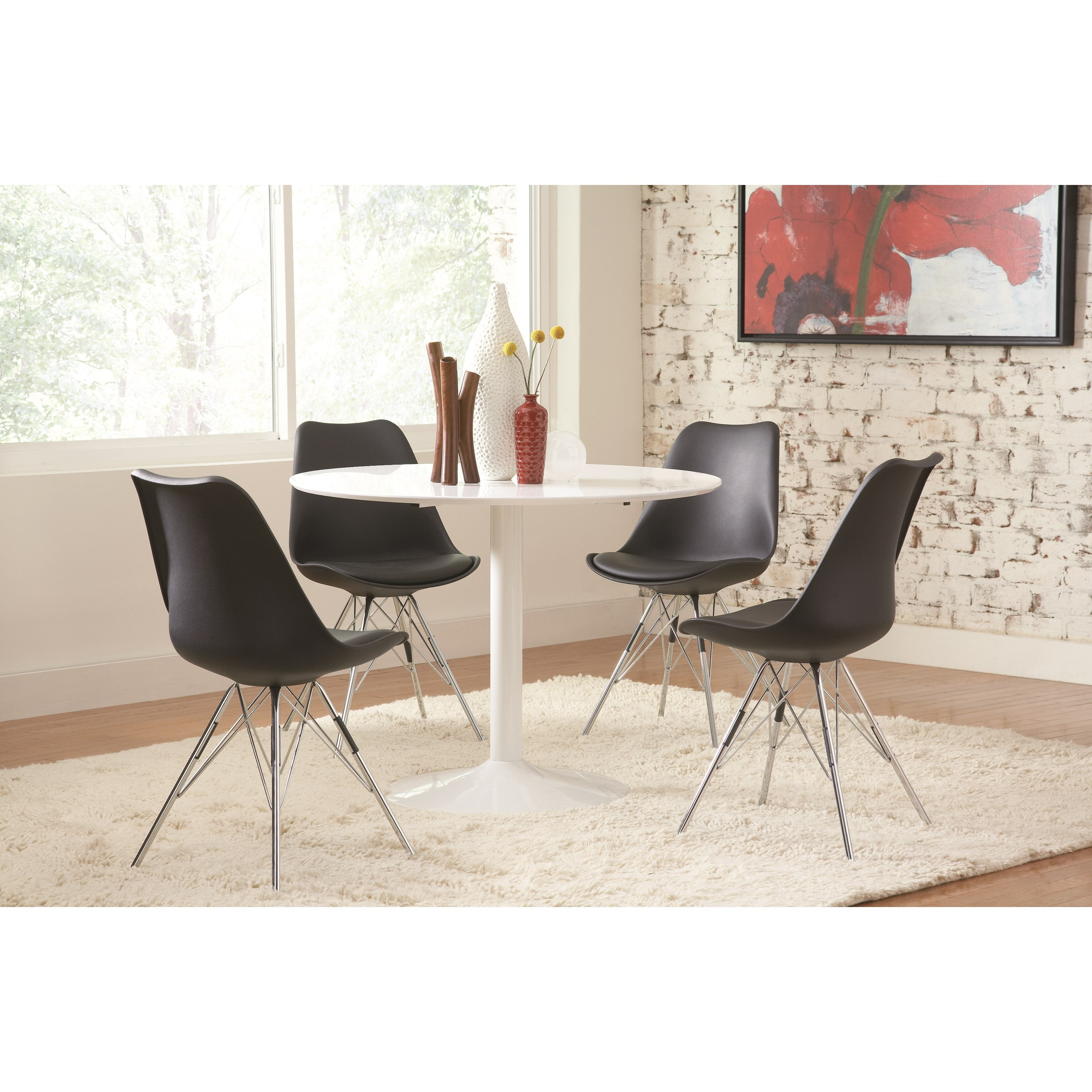 Coaster Lowry Table and Chair Set - Item Number: 105261+4x102682