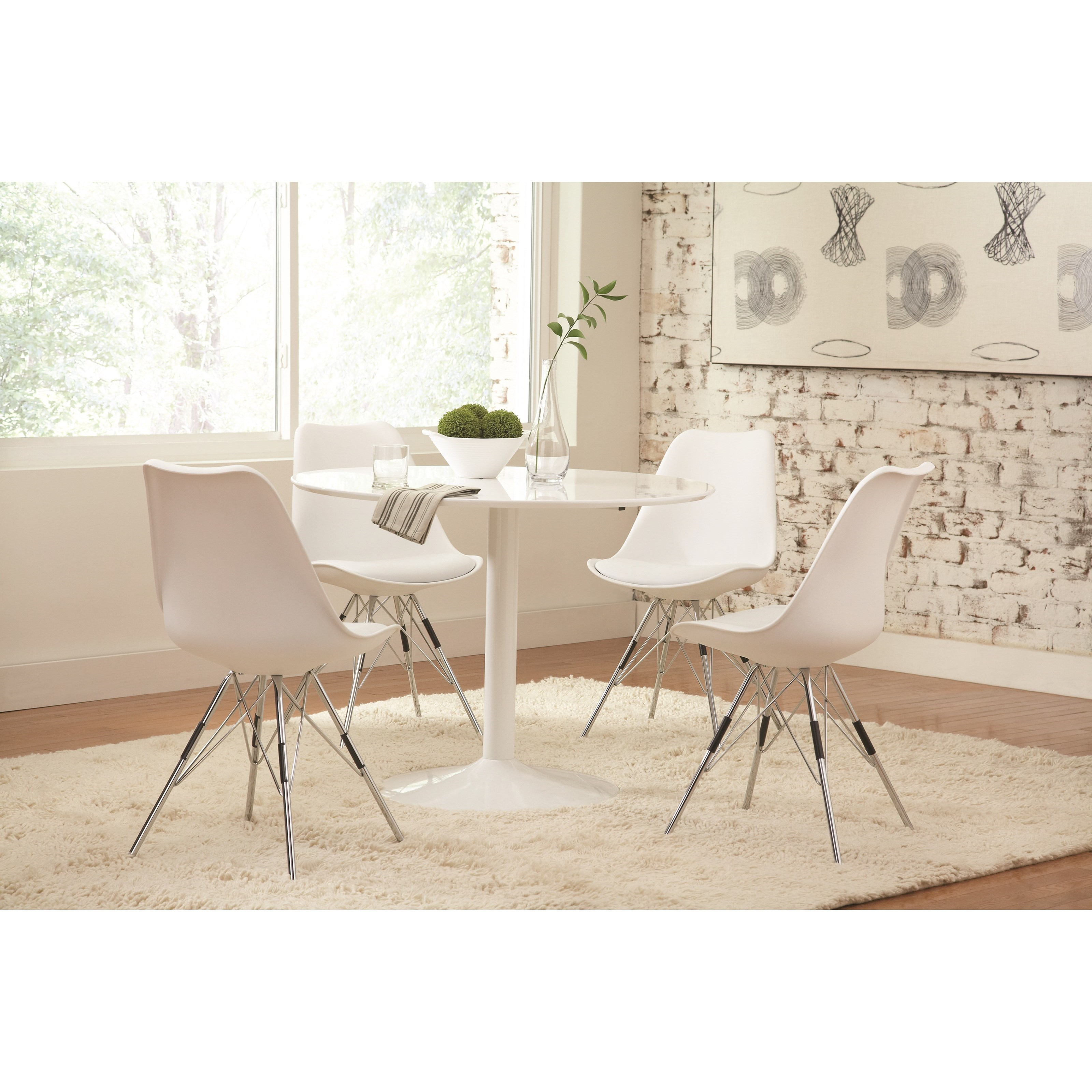Coaster Lowry Table and Chair Set - Item Number: 105261+4x102792
