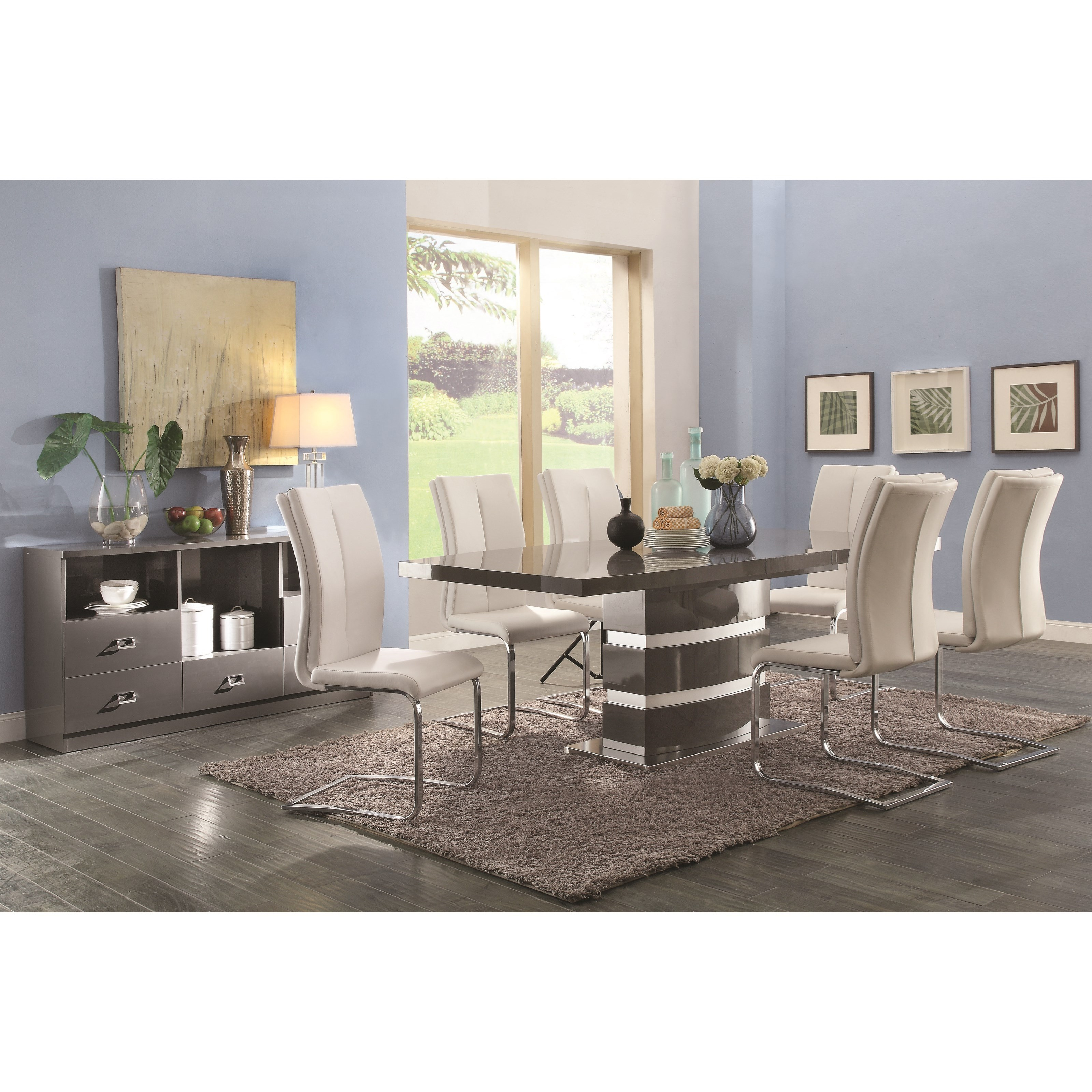 Coaster Lowry Casual Dining Room Group - Item Number: 107001+6x102815+107005