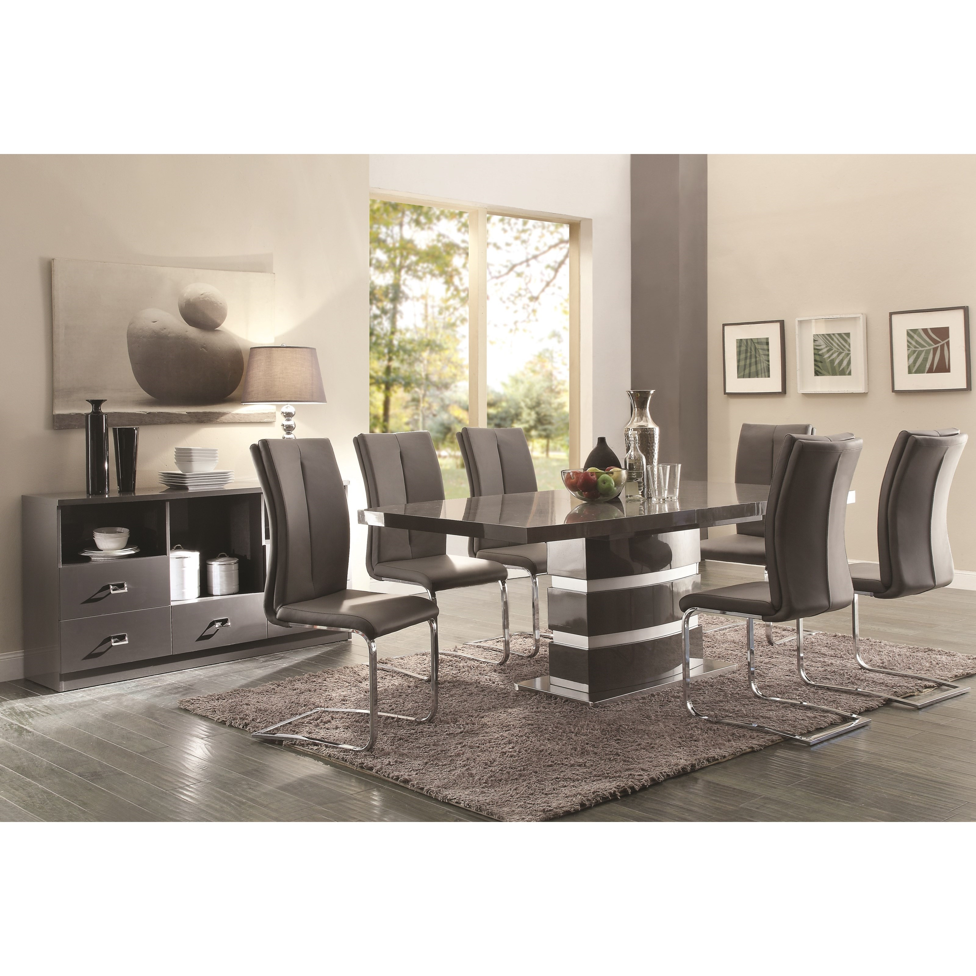 Coaster Lowry Casual Dining Room Group - Item Number: 107001+6x102817+107005