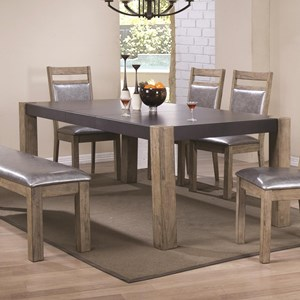 Coaster Ludolf Dining Table with Butterfly Leaf