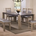 Coaster Ludolf Dining Table with Butterfly Leaf - Item Number: 107131