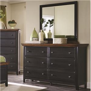Coaster Mabel Dresser and Mirror Set