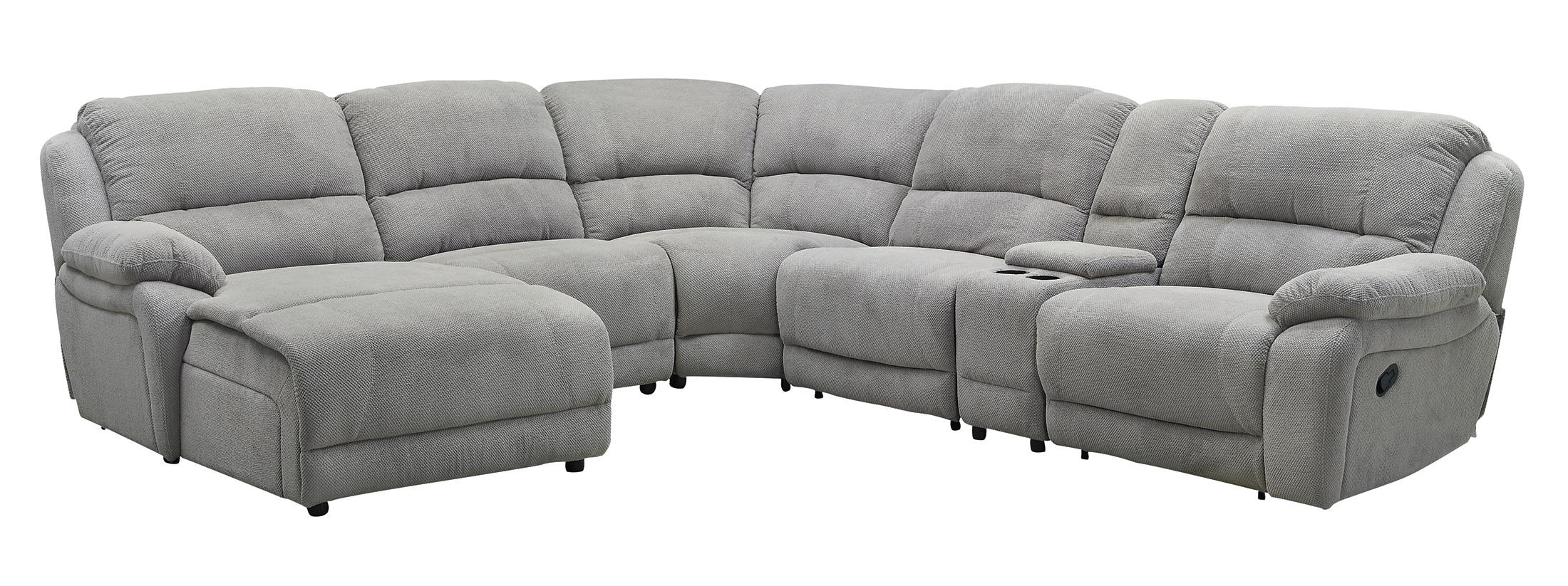 Coaster Mackenzie Silver 6-Piece Sectional - Item Number: 600017