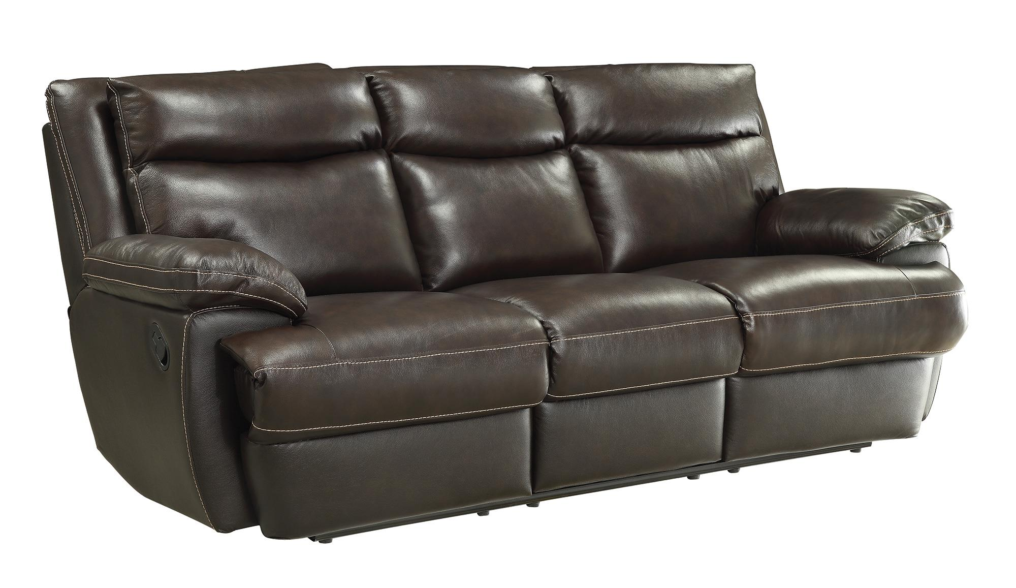 Coaster Macpherson Casual Leather Match Reclining Sofa