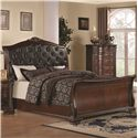 Coaster Maddison King Sleigh Bed with Upholstered Headboard - 202261KE - Bed Shown May Not Represent Size Indicated