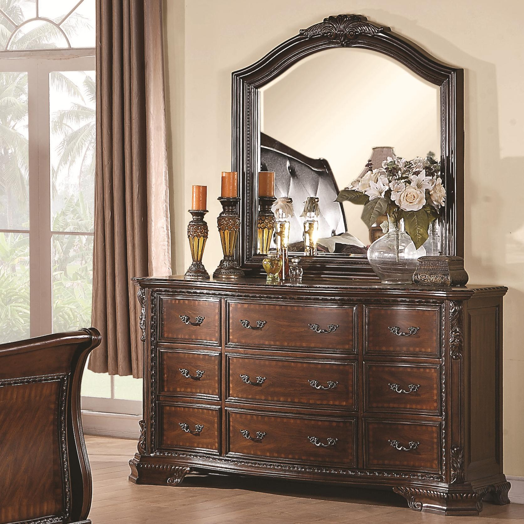 Coaster Maddison Dresser and Mirror - Item Number: 202263+64