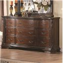 Coaster Maddison Drawer Dresser with Crowned Top