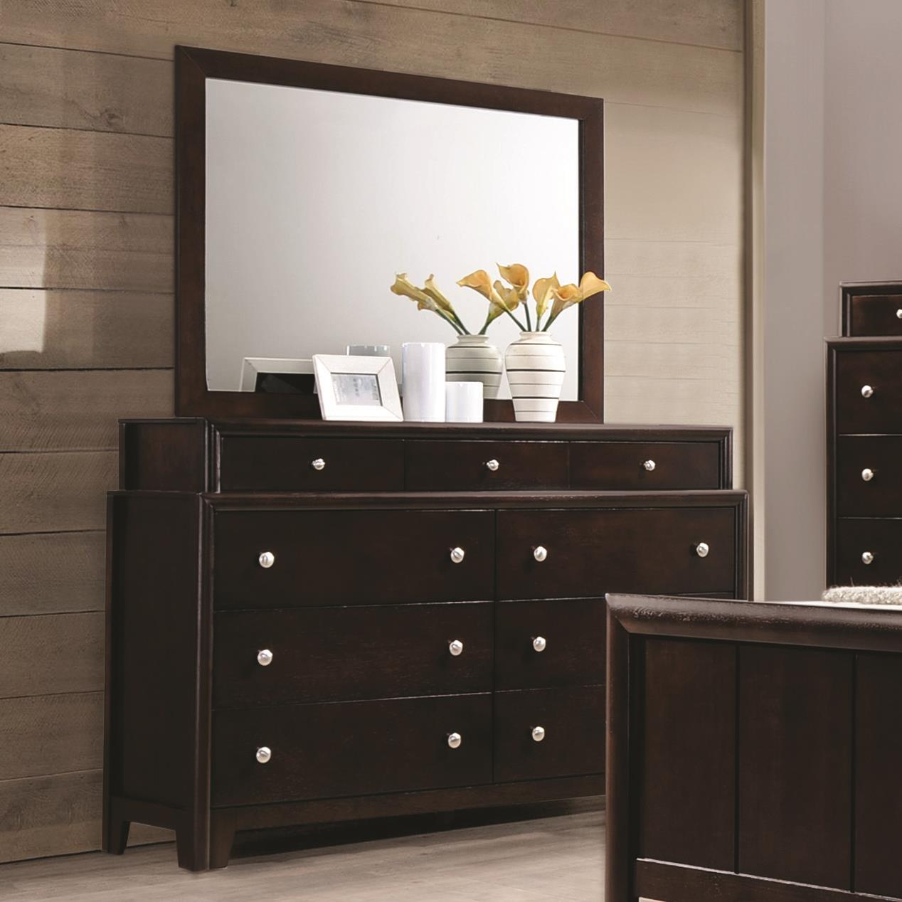 Coaster Madison Dresser and Mirror - Item Number: 204883+204884