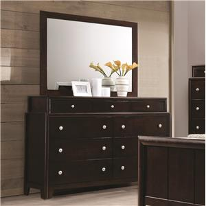 Coaster Madison Dresser and Mirror