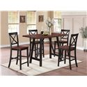 Coaster Makelim Two-Tone Counter Height Chair with X Back