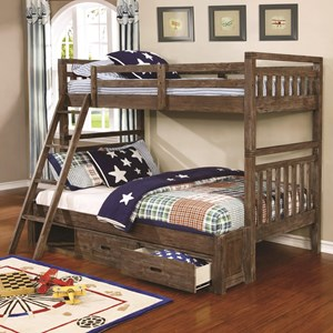 Coaster Malcolm Twin over Full Bunk Bed