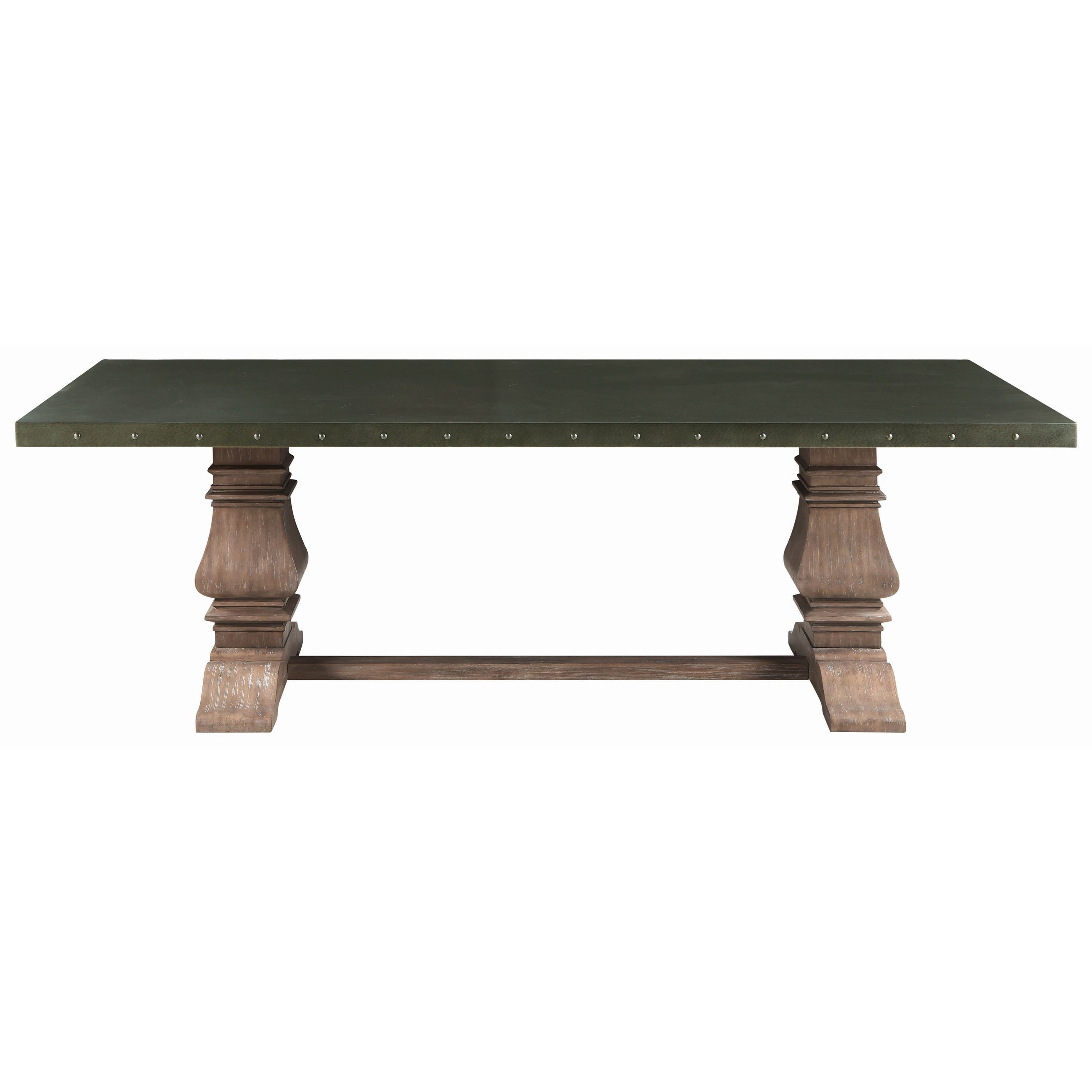 Coaster Mapleton Transitional Dining Table With Metal Top Value