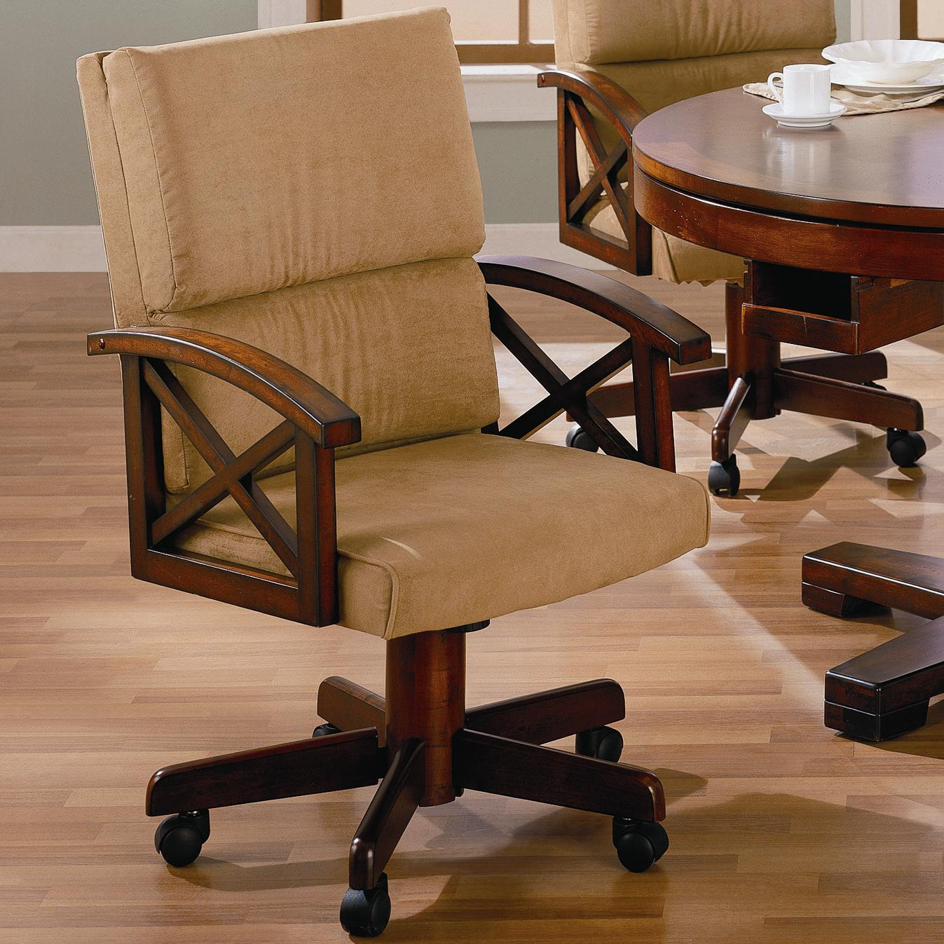 Coaster Marietta Upholstered Arm Game Chair - Del Sol ...