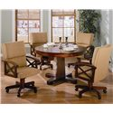 Coaster Marietta Upholstered Arm Game Chair - 100172 - Shown with Game Table