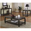 Coaster Marina End Table with Bottom Shelf - 701077 - Shown with Cocktail Table and Sofa Table