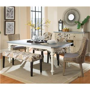 Coaster Matisse 6 Pc Dining Set w/ Bench