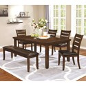 Coaster Maxwell Dining Table & Chair Set with Bench - Item Number: 107031+4x107032+107033