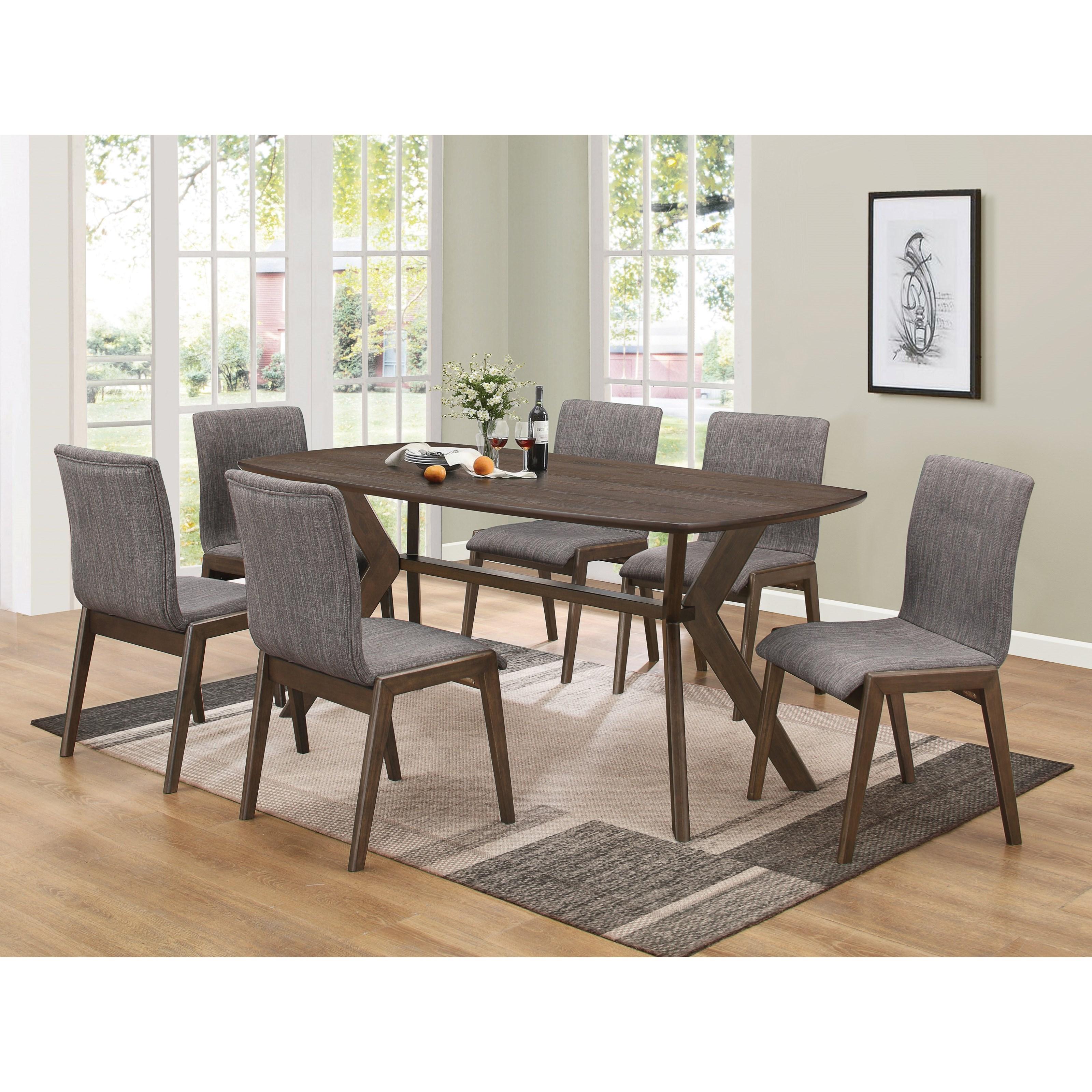 Retro Dining Room Set: Coaster McBride Retro Table And Chair Set