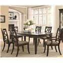 Coaster Meredith Dining Leg Table w/ Leaf Extensions - 103531 - Shown with Side and Arm Chairs
