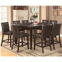 Coaster Milton Counter Height Table w/ Marble Top - Shown with Stools